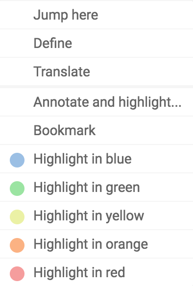 iOS options to highlight/annotate