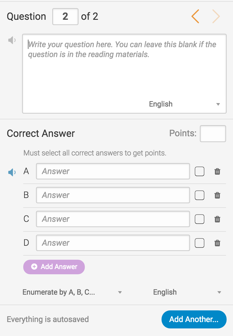 Answer multiple choice questions by choosing all correct answers