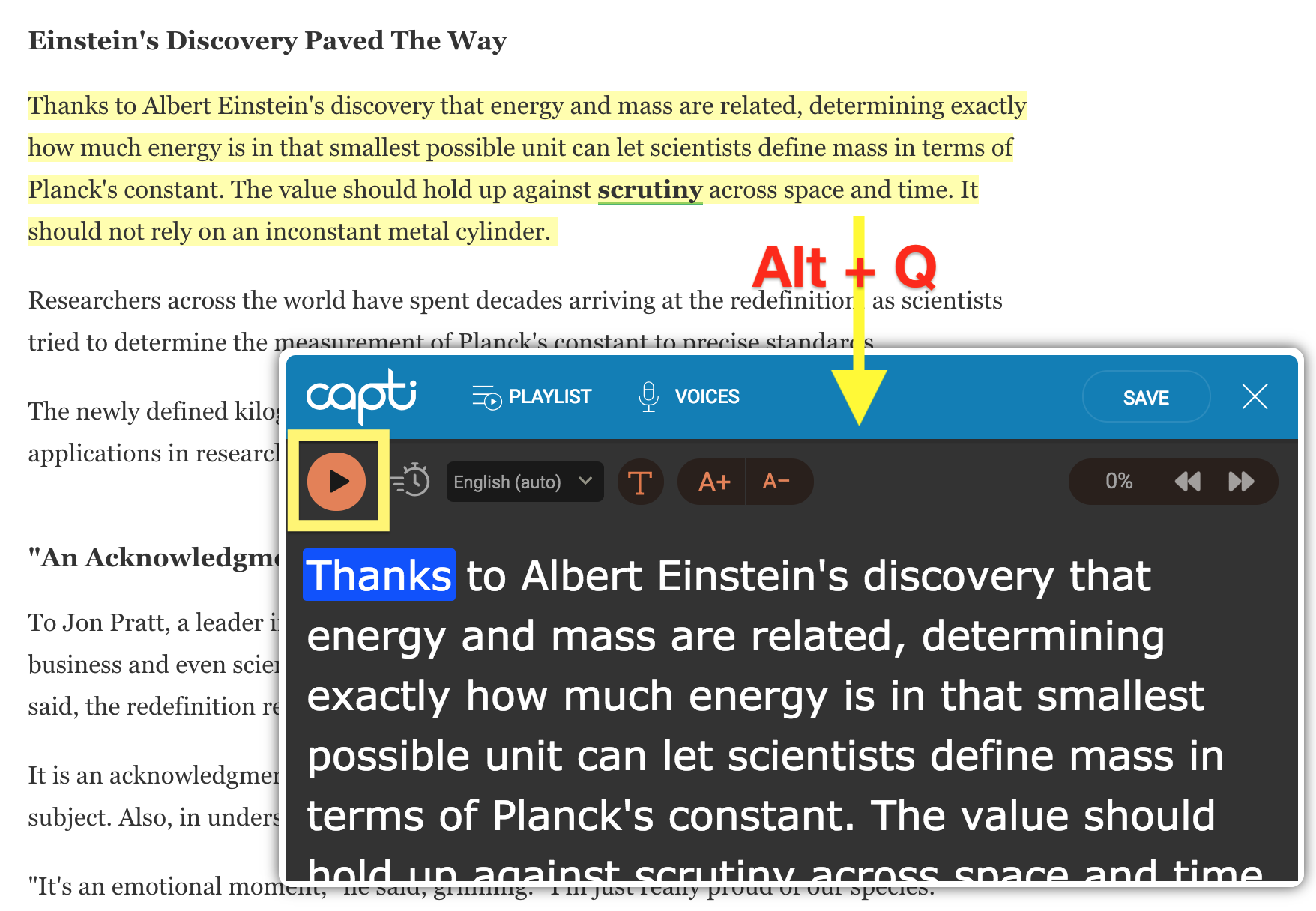 Capti Browser Extension