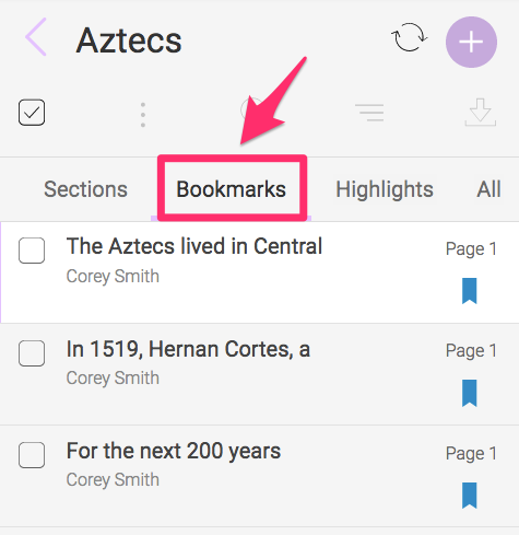 Select Bookmarks