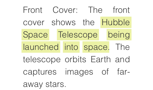 Highlighted: The Hubble Space telescope being launched into space